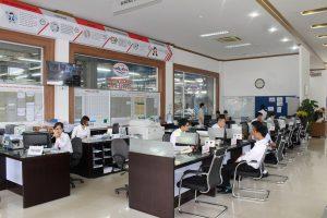 Khu vực tiếp khách dịch vụ tại Toyota Thái Nguyên